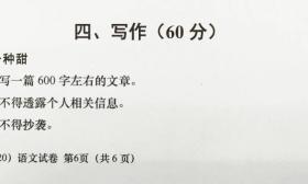 2020年上海、浙江各市中考作文题目出来了(部分附点评)你会怎么写?